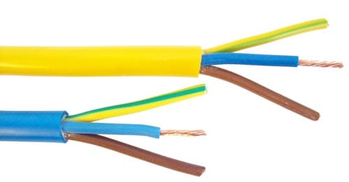 3183Y 1.5mm 110V Flexible Arctic Yellow Cable 3 Core 100M