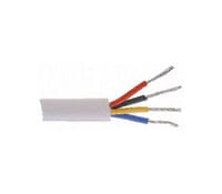Alarm Cable Low Voltage Flex Four Core White 100M