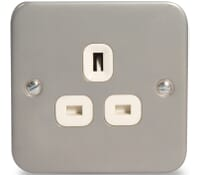 Image for BG Electrical Nexus Metal Clad MC523 1 Gang 13 Amp Unswitched Socket Outlet