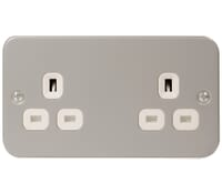 Image for BG Electrical Nexus Metal Clad MC524 2 Gang 13 Amp Unswitched Socket Outlet