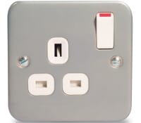 Image for BG Electrical Nexus Metal Clad MC521 1 Gang 13 Amp Switched Socket Outlet