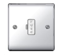 Image for BG Electrical Nexus Metal NPC54 13A Unswitched Fused Connection Unit Polished Chrome