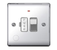 Image for BG Electrical Nexus Metal NPC53 13A Switched Fused Connection Units Fused Connection Unit With Neon And Cable Outlet Polished Chrome