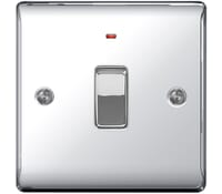 Image for BG Electrical Nexus Metal NPC31 20A Double Pole Switch With Neon Polished Chrome