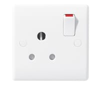 Image for BG Electrical Nexus Moulded 899 1 Gang 15 Amp Switched Socket Round Pin White