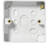 Image for BG Electrical Nexus Moulded 891 1 Gang Surface Box 32mm White