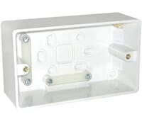 Image for BG Electrical Nexus Moulded 878 2 Gang Surface Box 50mm White