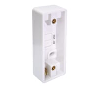 Image for BG Electrical Nexus Moulded 837 1 Gang Architrave Surface Box 19mm White
