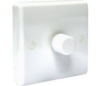 Image for BG Electrical Nexus Moulded 881P 1 Gang 2 Way Push 400W Dimmer White