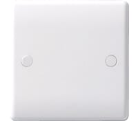 Image for BG Electrical Nexus Moulded 894 1 Gang Blank Plate White