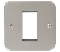Image for BG Electrical Nexus Metal Clad MC5EMS1 1 Module Square Front Plate