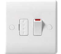Image for BG Electrical Nexus Moulded 851 13 Amp Switched And Fused With Flex Outlet White