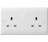 Image for BG Electrical Nexus Moulded 824 2 Gang 13 Amp Unswitched White