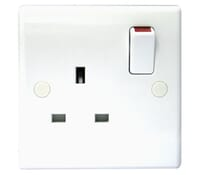 Image for BG Electrical Nexus Moulded 821 1 Gang 13 Amp Single Pole Switched White