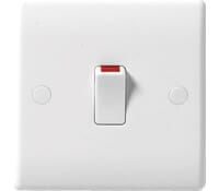 Image for BG Electrical Nexus Moulded 832 20 Amp Double Pole Switch With Flex Outlet White