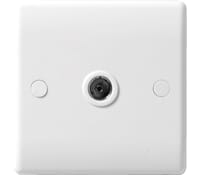 Image for BG Electrical Nexus Moulded 860 1 Gang CoAxial Socket White