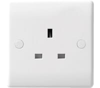 Image for BG Electrical Nexus Moulded 823 1 Gang 13 Amp Unswitched White
