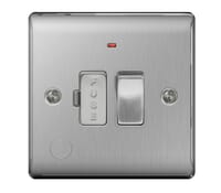Image for BG Electrical Nexus Metal NBS53 13A Switched Fused Connection Units Fused Connection Unit With Neon And Cable Outlet Brushed Steel