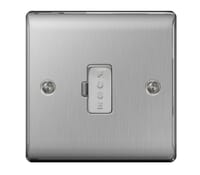Image for BG Electrical Nexus Metal NBS54 13A Unswitched Fused Connection Unit Brushed Steel