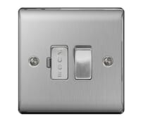 Image for BG Electrical Nexus Metal NBS50 13A Switched Fused Connection Units  Brushed Steel