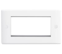 Image for BG Electrical Nexus Moulded 8EMR4 4 Module Rectangular Front Plate White
