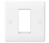 Image for BG Electrical Nexus Moulded 8EMS1 1 Module Square Front Plate White