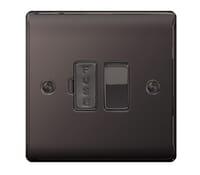 Image for BG Electrical Nexus Metal NBN50 13A Switched Fused Connection Units  Black Nickel