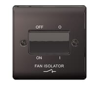 Image for BG Electrical Nexus Metal NBN15 10Ax Plate Switch 3 Pole Fan Isolator Black Nickel