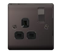 Image for BG Electrical Nexus Metal NBN21B 1 Gang 13A Switched Socket Black Nickel