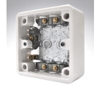 Image for MK Logic Plus K2131WHI 1 Gang 37mm 10 Clamps Moulded Mi Cable Box White