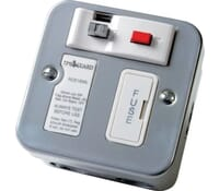 Image for Timeguard Valiance RCD16ML Fused Connection Spur Outlet with Passive RCD Trip Metalclad