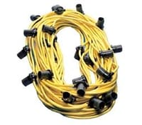 Image for Brackenheath Festoon SEFL13E 100Metre 3M Spacing Cable E27 Lamp Holders