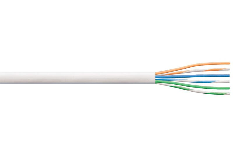 CCA 3 Indoor Telephone Cable 6 Core White 100M