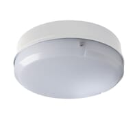 Luceco LBM200B6S40 7W LED Outdoor Bulkhead Light 4200K Cool White IP65 White