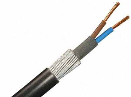 6942X PVC 16mm 2 Core Armoured Cable 1M