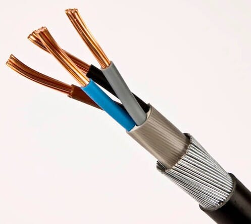 6944XS PVC 2.5mm 4 Core Armoured Cable Stranded 1M