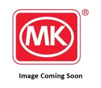 Image of MK Edge K14347BSSB 13A 2 Gang Double Pole Switched Socket Dual Earth Brushed Stainless Steel Black Insert