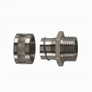 Flexicon 25mm Nickel Coated Fixed Male Adaptor IP40 Each