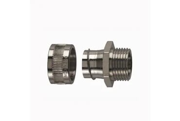 Image of Flexicon 25mm Nickel Coated Fixed Male Adaptor IP40 Each
