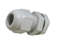 Image for SWA Cable Dome Gland 20mm IP68 Polyamide with Locknut Grey Small Aperture