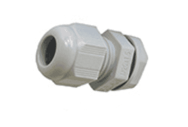 Image for SWA Cable Dome Gland 20mm IP68 Polyamide with Locknut Grey Large Aperture