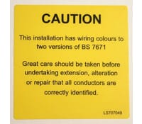 Mixed Notice Sticker 130 x 60mm Label Pack 100