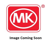 Image of MK Edge K14347BSSW 13A 2 Gang Double Pole Switched Socket Dual Earth Brushed Stainless Steel White Insert