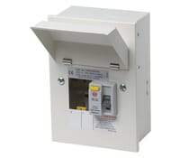 Image of Wylex NM Metal Consumer Unit 2 Way 40A 30mA RCD