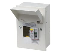 Image of Wylex NMRS206/63A 2 Way 63A 30mA Type A RCD Metal Consumer Unit