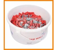 Wall Plugs and Screws Trade Tub Brown No.10 x 2 Inch 400 Pack 500