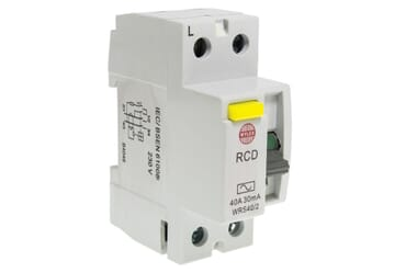 Image of Wylex WRDS40/2 Type A RCD 40A 30mA 2 Pole 2 Module