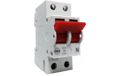 Wylex WS102 100A DP 2 Module Isolator Switch